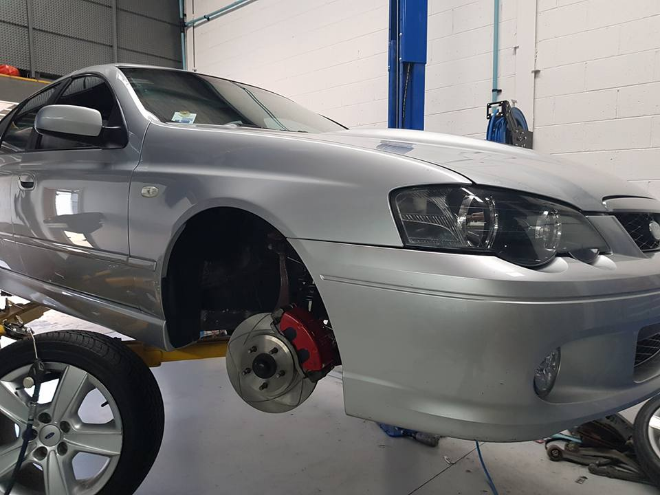 BA XR8 Falcon fitted with our Premium Slotted Rotors and Ultra Brake Pads