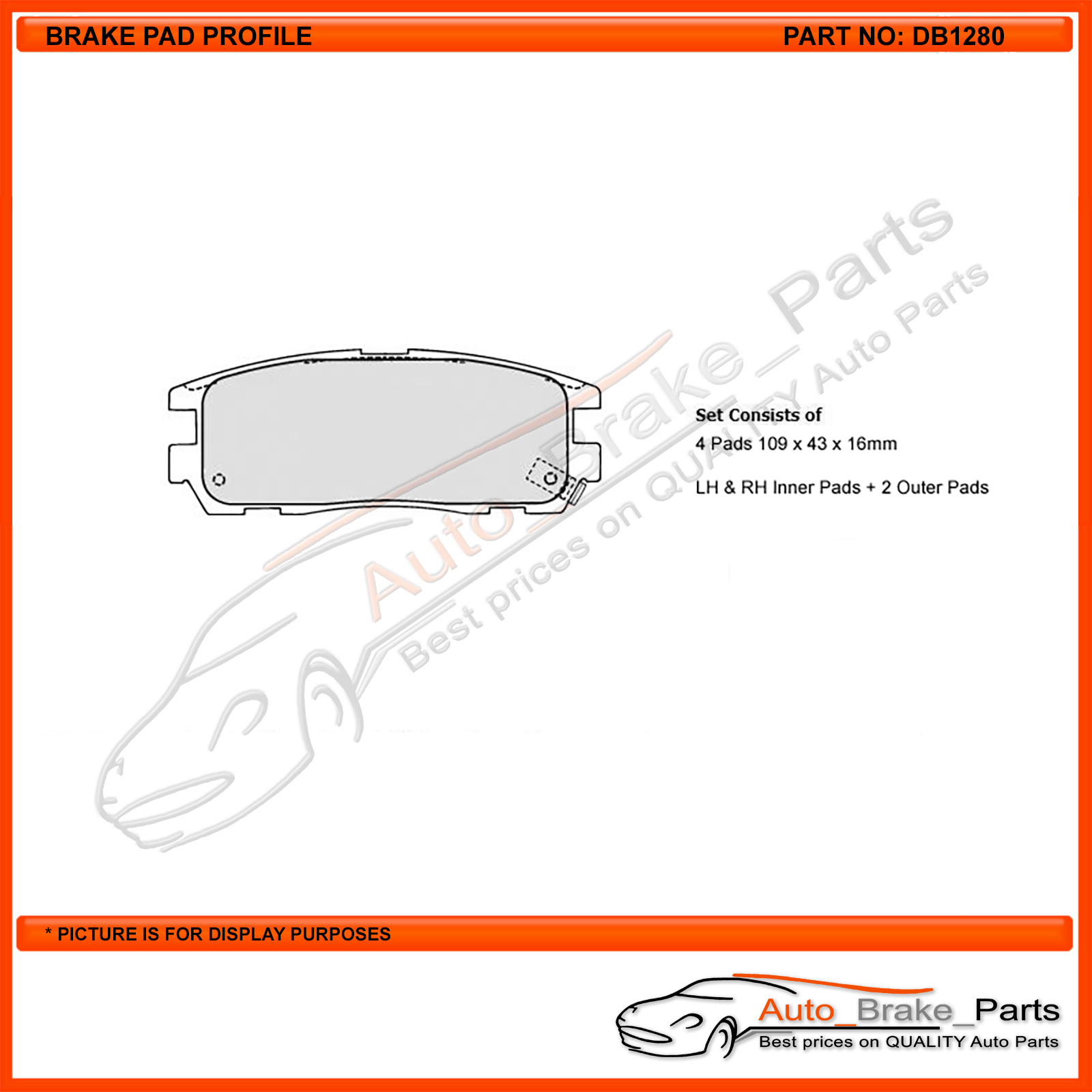 Auto Brake Parts - Protex Blue Rear Brake Pads for HOLDEN RODEO TF