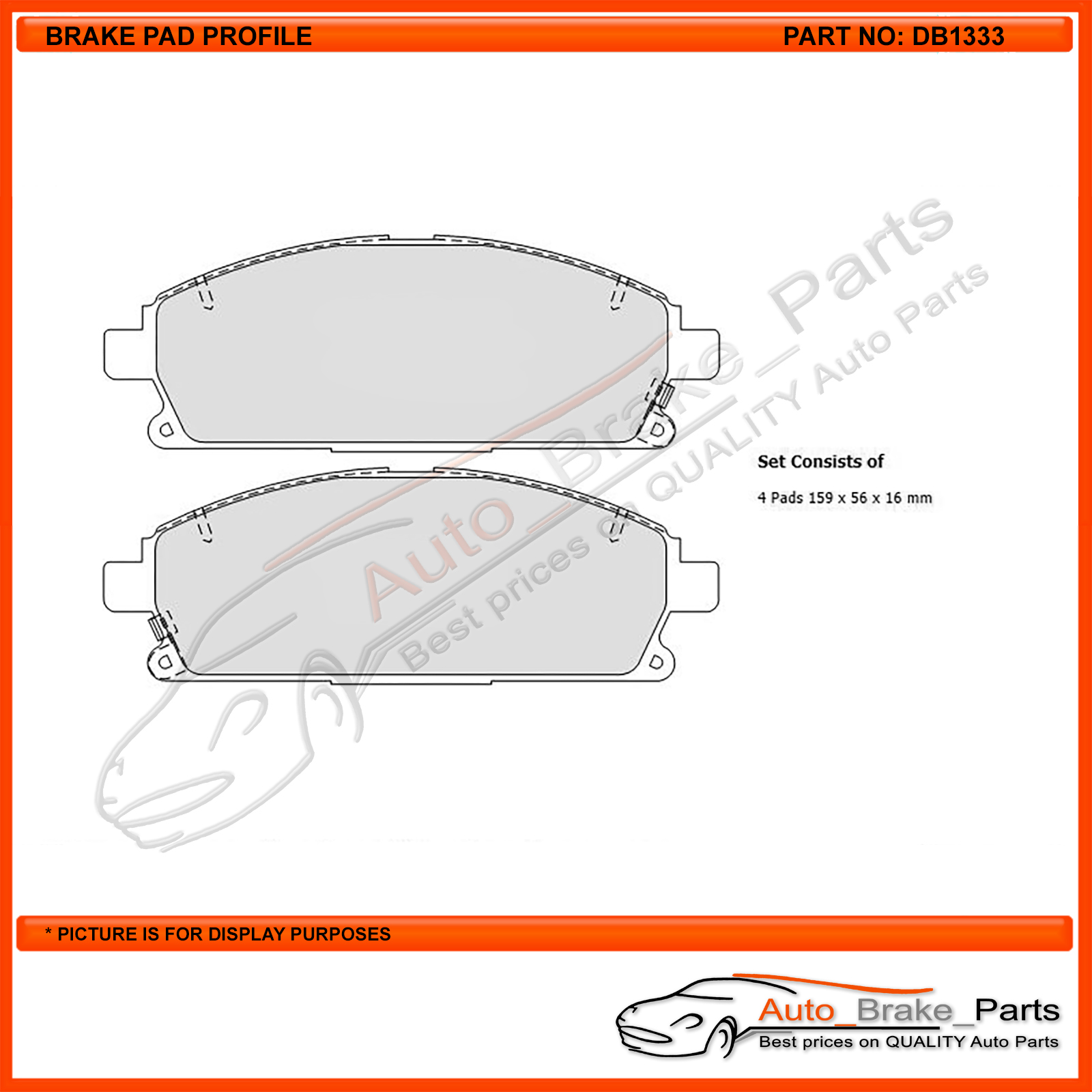 For Nissan X-trail T30 4WD 2000-2007 DB1333 Front Disc Brake Pads