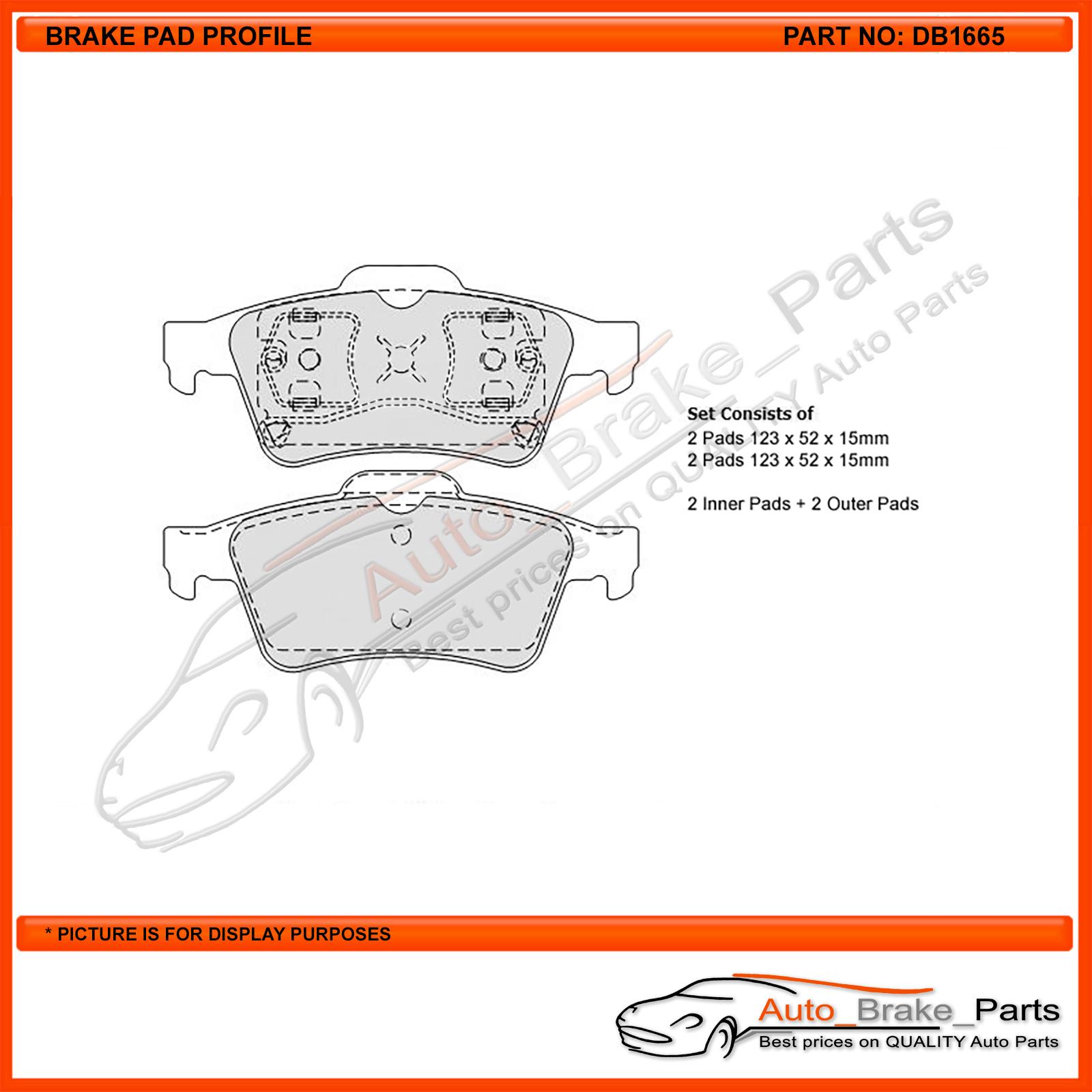 Protex Blue Brake Pads DB1265B