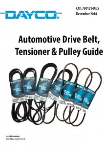 Dayco Drive Belts Catalogue