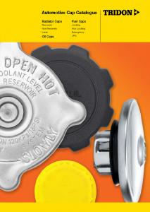 Automotive Cap Catalogue