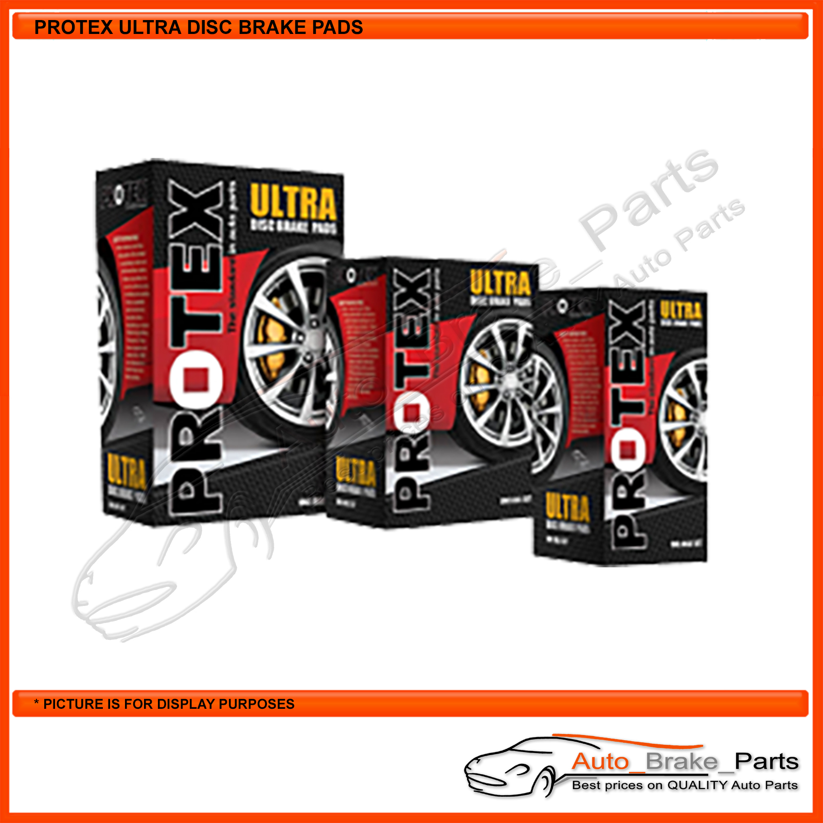 Auto Brake Parts Protex Ultra Rear Brake Pads For Audi A3 8p